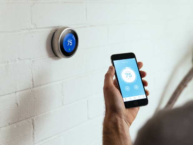 Nest thermostat and Nest mobile app