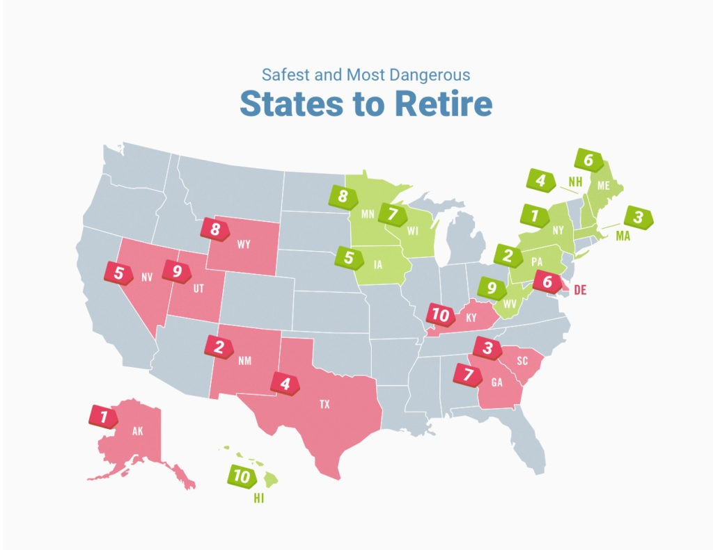 Safest And Most Dangerous States To Retire